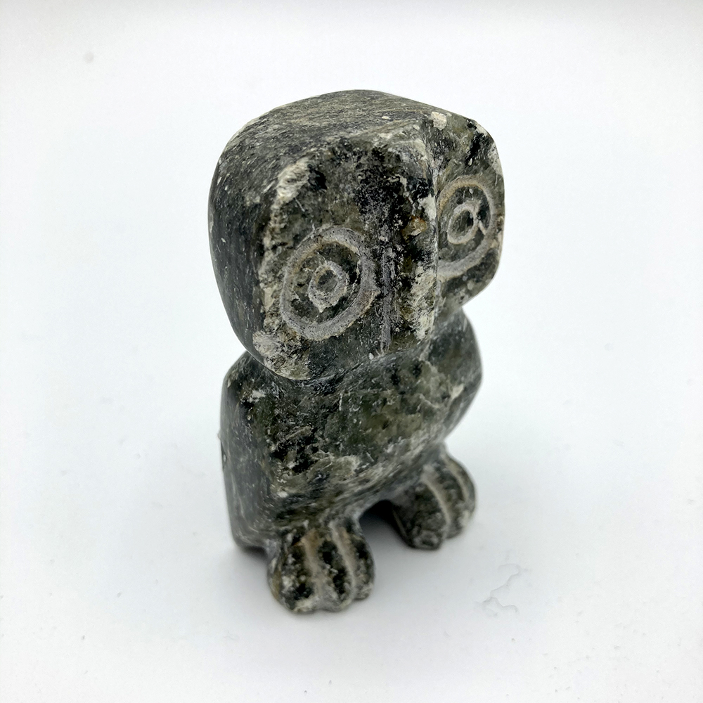 Carved Stone Owl Figurine