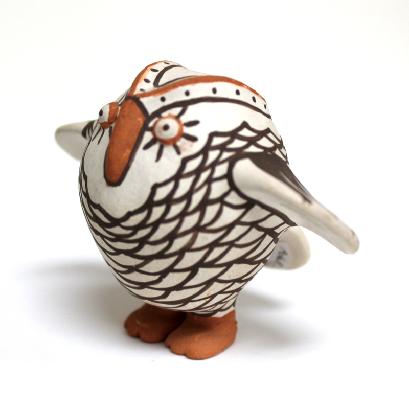 Handpainted Terracotta Owl Figurine (Small)